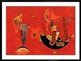 Wassily Kandinsky Poster Kunstdruck und Kunststoff-Rahmen - Mit Und Gegen, 1929 (80 x 60cm)