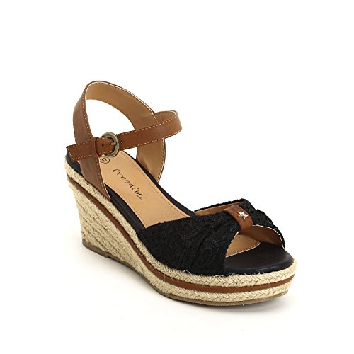 PRENDIMI by Scarpe&Scarpe - Schuhe aus Spitze mit Keilabsatz Schwarz