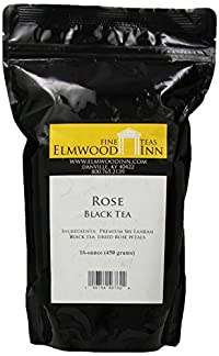 Elmwood Inn Fine Teas, Rose Black Tea, 16-Ounce Pouch