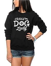 HotScamp Crazy Dog Lady - Dog Lover Pet Owner Gift - Youth & Womens Sweatshirt