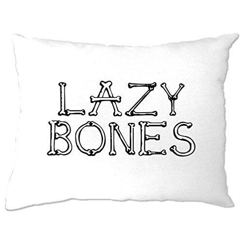 Lazy Bones Slogan Gelegenheits Halloween Pun Lustiger Slogan Kühle Kissenbezuge