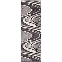 tapis de couloir moderne collection fiesta couleur gris motif ondules la meilleure qualit - Tapis De Couloir