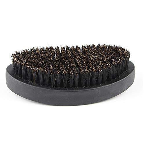 Occitop Oval Portable Boar Bristle Beard Brush Men Beard Care Shaving Brush (Black)