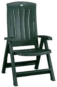 Jardin Corfu 182498 Folding Chair Plastic Green: Amazon.co