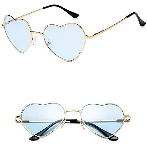 GJYANJING Sonnenbrille Sonnenbrille Frauen Fashon Brille Liebe Herz Stil Vintage Sommer Retro Sonnenbrille Shades