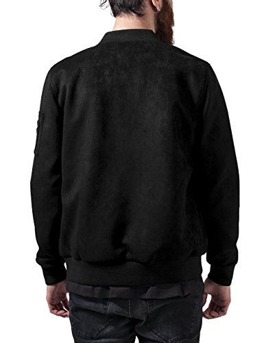 Urban Classics Imitation Suede Bomber Jacket, Giacca Uomo Nero (Black 7)