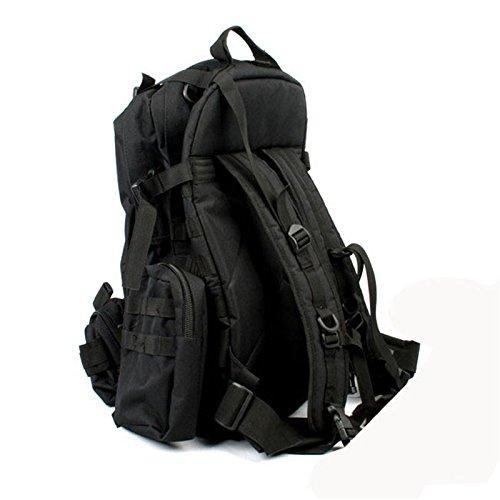 Outdoor schulter Rucksack große Kapazität multifunktionale Rucksack fans Bergsteigen Taschen, jungle Camouflage Khaki Farbe