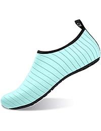 JIASUQI Antideslizante clásico Antideslizante Zapatos de Piel de Agua  Calcetines de Aqua para el Ejercicio de la Playa… 28b26e1cc62