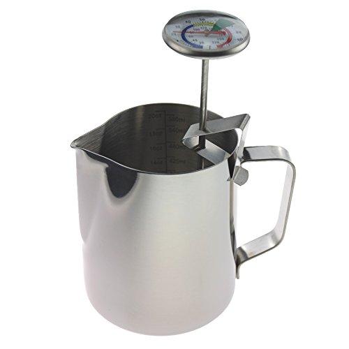 Leche termómetro 600ml jarra leche perfecto estilo