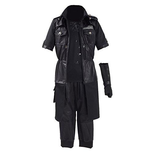 CosDaddy ® Herren Schwarzen Cosplay Party Kostüme Retro Stil Uniform (M) (Noctis Lucis Caelum Kostüm)