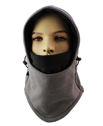 Fleece-schwergewicht Hat (ZZLAY Balaclavas Hut Doppelschichten verdicken Kappen Winter vielseitig Hals warme Fleece Ski Gesichtsmaske)