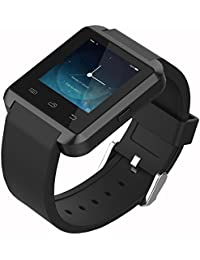 colofan SmartWatch Lujo U8Bluetooth reloj inteligente reloj de pulsera teléfono con cámara de pantalla táctil para iOS iPhone Smartphone Android Samsung Smartphone (Negro)
