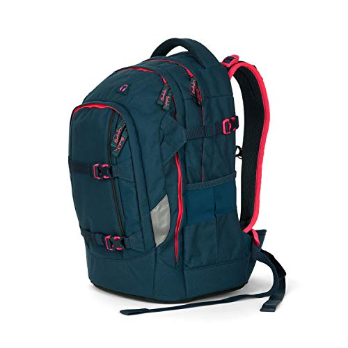 Satch Pack Pink Phantom, ergonomischer Schulrucksack, 30 Liter, Organisationstalent, Türkis