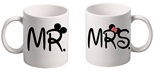 Allntrends Couple Coffee Mugs MR and MRS by Allntrends