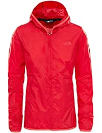 North Face W Tanken Windwall Chaqueta, Mujer, Rojo (High Risk Red), M