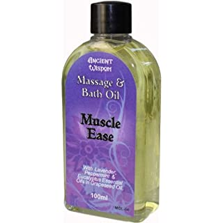 Muscle Ease Massage & Bath Oil with Lavender, Peppermint & Eucalyptus - 100ml