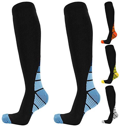 Yimidon calze unisex a compressione da adatte a corridori infermieri viaggiatori insegnanti maternit allenamento per uso medico