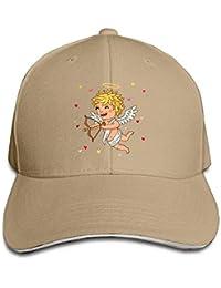 ARTOPB Funny Hat Baseball Cap Unisex Sandwich Peaked Cap Angel Cupid Art  Love Adjustable Cotton Baseball 92d42d25512
