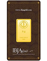IBJA Gold 8 gm, 24KT Yellow Gold Bar
