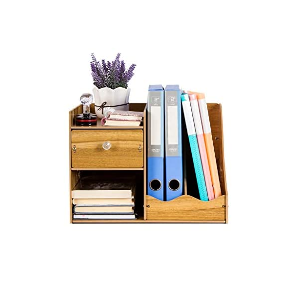 ZHAO ZHANQIANG Wooden Creative Stationery Wooden File Rack Book Stand Bookshelf/Storage, (Color : QT46) ZHAO ZHANQIANG INCREASE FOCUS AND PRODUCTIVITY - A clear workspace can help improve concentration and let you get more done. The wooden, farmhouse organizer gives you a place to put your papers, pen and even your phone, letting you quickly clean and tidy your space for a new project while keeping everything you need close at hand. Affordable: increase storage space, higher sex ratio, Screw fixing: firm, 1