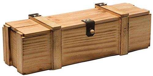 Weinkiste 1er geflammt inkl. Holzwolle / Holzkiste / Geschenkbox / Aufbewahrungsbox / Überraschungskiste / Weinbox / Hochzeitskiste (1er Weinbox)