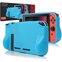 ORZLY® Comfort Grip Case for Nintendo Switch - Protective Back Cover for use on the Nintendo Switch Console in Handheld GamePad Mode with built in Comfort Padded Hand Grips - BLUE