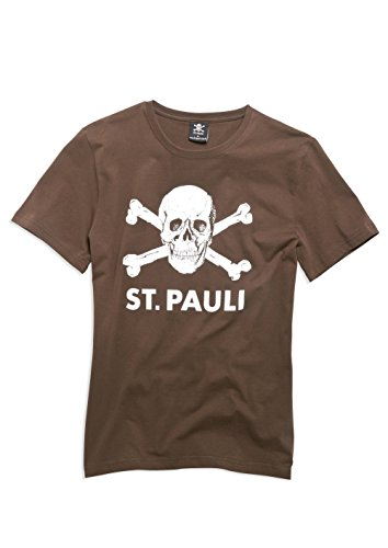 FC St. Pauli Totenkopf I T-Shirt (braun, XL)