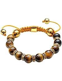 Hidden Gems (BWB30) Bracelet Macrame Wrap perle avec strass