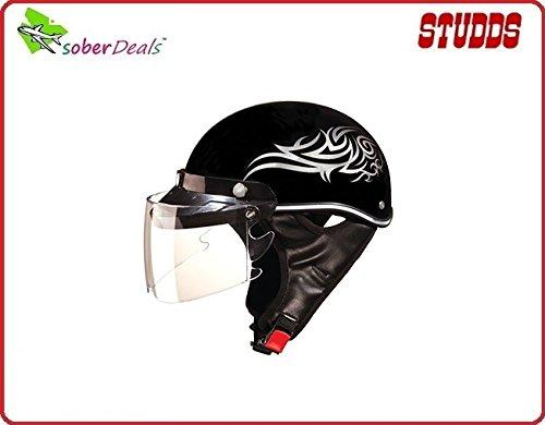 Studds AS-90 Sporting Helmet Troy Tramp Stamp (Black_Large)