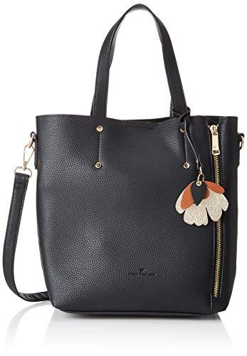 TOM TAILOR Shopper Damen, Lana, Schwarz, 32x27x12 cm, Schultertasche, Tom Tailor Handtaschen Damen -