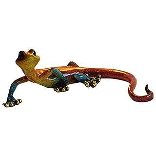 Aljec Medium Red Speckled Gecko, Metal 23 x 15 x 8 cm