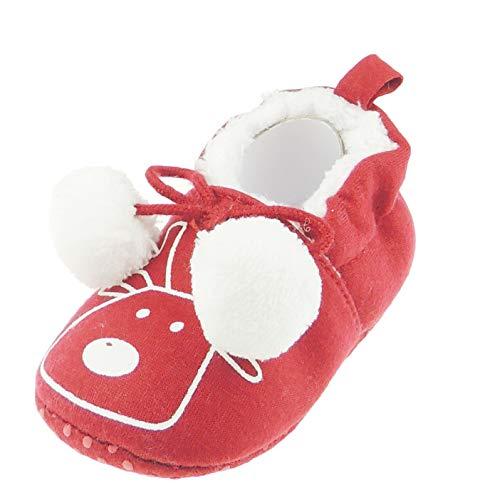 Imagen para Adorable Rudolph Rudolph - Cochecito navideño con pompón, diseño de reno, color rojo Talla:3-6 meses