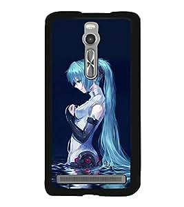 Blue Girl 2D Hard Polycarbonate Designer Back Case Cover for Asus Zenfone 2 ZE551ML