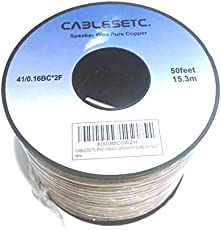 CABLESETC Pro Series Pure Oxygen Stranded Copper Speaker Wire (18AWG/15m)