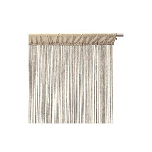 CORTINA DE HILOS color LINO (beige) - 90 X 200cm.