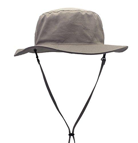 Decentron Herren Täglich Baumwolle Sonnenhut Medium Rand Eimer Angeln Hüte UPF 50+ Wandern Hut Hellgrau Design Eimer Hüte Für Männer