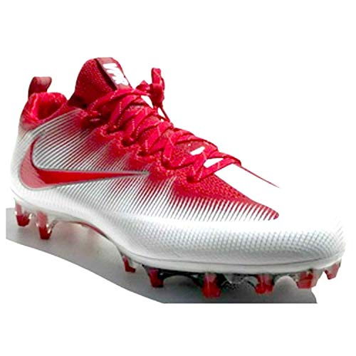 ite Football Cleats Shoes Mens 13 (Red, White, Silver) ()