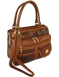 Damen Patchwork Handtasche Vintage Tasche mit zusätzlichem verlängerbaren Henkel Henkeltasche Shopper Schultertasche Umhängetasche 3279