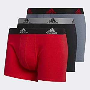 41c58SYXABL. SS300  - adidas Men's Stretch Cotton Boxer Trunk (3-Pack) - Ropa Interior Hombre