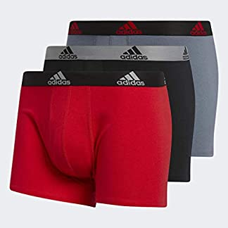 adidas Men's Stretch Cotton Boxer Trunk (3-Pack) Ropa Interior, Hombre