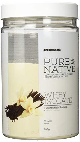 Prozis Pure Native Whey Isolate 900 g - Natives Molkenprotein, in schonendem Verfahren hergestellt, reich an Leucin - Vanille - 900 g