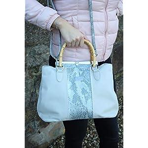 ausgefallene Lederhandtasche Damenhandtasche Henkelhandtasche