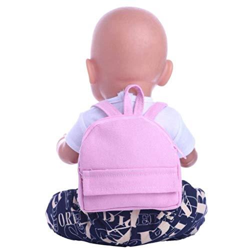 SunnyGod Peluche Baby Doll Carrier, Mochila de Dos Correas Mochila para 18 Pulgadas Nuestra generación American Girl Doll Education Toys (Rosa) (Color : Pink)
