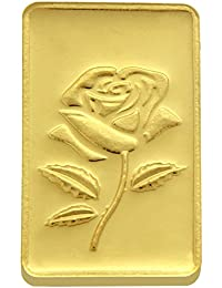 TBZ - The Original 15 gm, 24k(999) Yellow Gold Rose Precious Coin