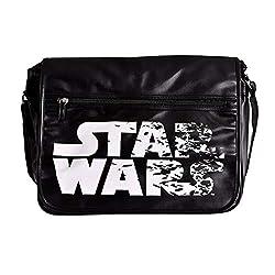 Elbenwald Star Wars College Tasche Crushed Film Logo 41x33x11cm schwarz