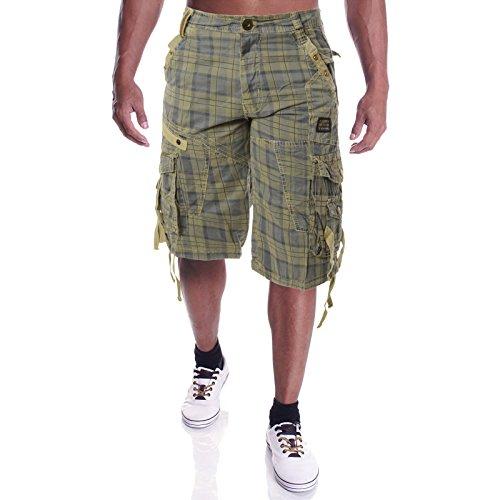 Herren Kurze Bermuda Hose Shorts 21394, Größe:32;Farbe:Beige (Cargo-short Eingestellt)