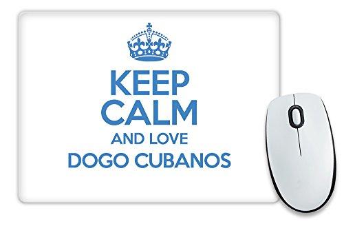 Blau Keep Calm und Love Dogge cubanos Mauspad TXT 1521 (Dogge-tassen Blaue)