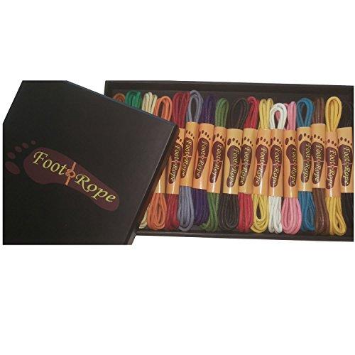 Foot Rope Schnrsenkel Rund Dnn Gewachst (Geschenkbox - 17 Farben, 90cm)