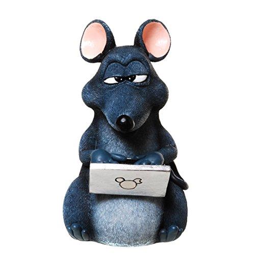 """Produktbild Spardose,Sparbüchse """"Maus mit Laptop"""""""