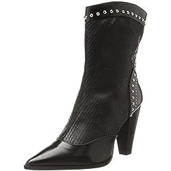 Oxitaly Damen Silive 338 Cowboy Stiefel, Schwarz (Nero), 40 EU